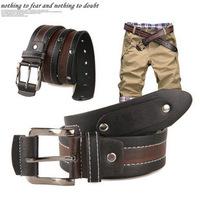2014 Men's Vintage leather belt Buckle Belts for Men male brand belt for jeans men black straps  PRB-197