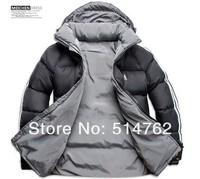 Free shipping 2014 New Men Double Side Wear Thicken Winter Outdoor Windbreaker Heavy Coats Down Jacket Clothes