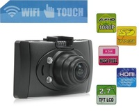 NEW W20 FULL HD 1080P H.264 WIFI Car Dash cam Camera DVR 2.7inch 170 gegree Touch Screen free USPS shipping