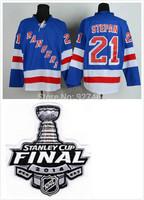 stitched 2014 Stanley Cup Finals Patch New York Rangers 21 Derek Stepan  ice hockey jersey/shirt/Sportswear