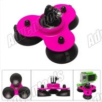 GOPRO hero 2 / 3 / 3 + super 3-cup-suction mount car mount Fit for all GoPro cameras/SJ4000/SJ5000 -Pink /SJ4000/SJ5000