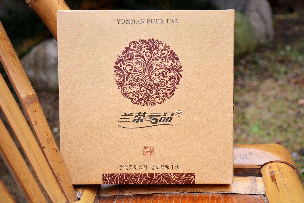 gift packing high quality organic ripe yunnan puer tea cake 357 grams yunnan gongting tributed pu