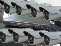 8PCS 720p HD ip camera outdoor ir weatherproof CCTV + 3000G HDD NVR kit