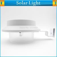 Solar Power Motion Sensor Panel 3 LED Fence Gutter Light for Outdoor Garden Roof Wall Lobby Pathway Lamp Warm White