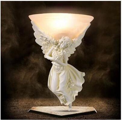 Resin Angel light Carving Athena Goddess Romance Wall Lamp  WL3(China (Mainland))