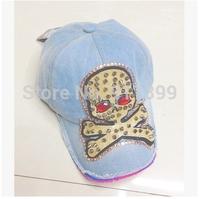 summer dress 2014 baseball cap trip skull bone sun block sports cap jeans snapback hat