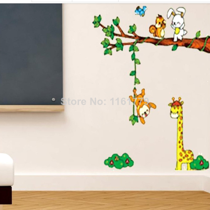 Shop popular giraffe nursery from china aliexpress - Stickers girafe chambre bebe ...