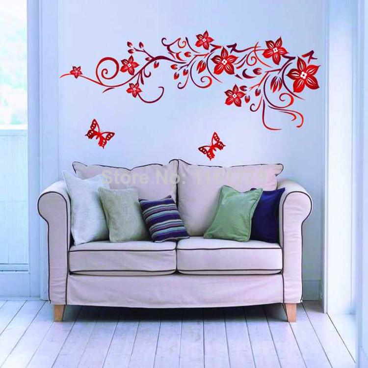 Online kopen wholesale vlinder muur deco uit china vlinder muur deco groothandel - Muur deco volwassen kamer ...