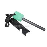Luminous Handle Survival Magnesium Flint Rod Fire Starter Ruler Opener Kit H1E1