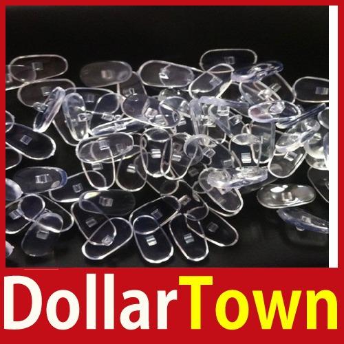 De compra rapidamente dollartown New 50 pares de Silicone óculos Sunglass óculos nariz almofadas macias Oval Screw On de alta qualidade melhor(China (Mainland))