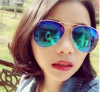 sunglasses Mirror polarized coating Sunglasses vintage fashion Oculos 2014 new dress glasses
