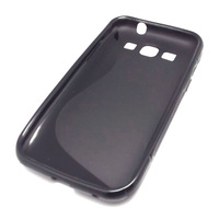 For Samsung i8552 Galaxy Win Duos S Gel TPU Case Cover Skins + Film,Black