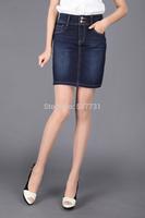 Hot ! Explosion models 2014 new women's denim skirt thin section / high pockets hip denim skirt large size free shipping