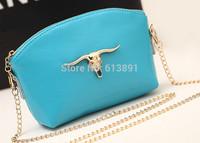 2014 han edition candy chain bag fashion cool mini leather hand caught one shoulder aslant bag handbag free shipping