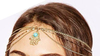 New Fashion Vintage Women Romantic Hairwear With Blue Stone Turquoise Headbands free shipping