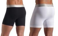 1PCS Modal&Cotton Quality Sexy Men Boxer Shorts Men's Boxers Mens Long Underwear brand sexy men underwear Free Shipping