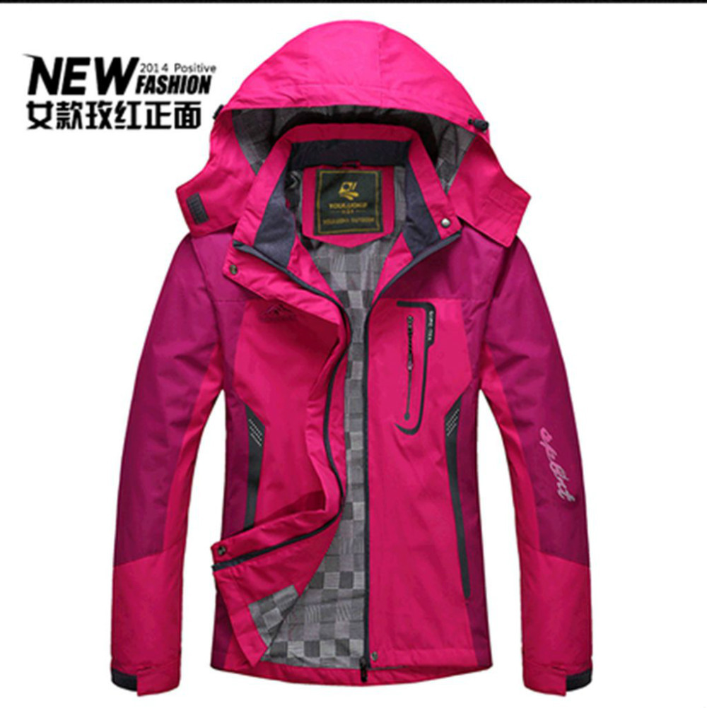 2014 New The Mammoth Women Sportswear Jacket North Army Green Waterproof Outdoors FACED Windbreaker Jacket(China (Mainland))