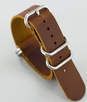 free shipping ZULU VINTAGE LEATHER NATO WATCH STRAP