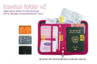 short design multi function travel canvas wallet passport case credit card bag Sorting purse holder documents bag passport cover
