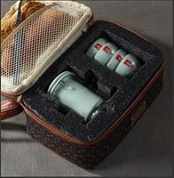 Travel tea set of ceramic tea set Open your kiln porcelain travel Simple office kunfu tea of a complete set of car travel