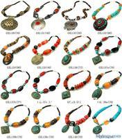MW-05 Best Mix Wholesale Tibetan Ethnic Colorful Big Pendants Necklace,Nepal India Handmade BOHO Jewerly,Free shipping