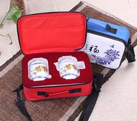 Ceramic kung fu tea sets travel office tea sets The wild camping supplies
