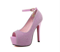2014 Summer New Ultra-high Heels Fish Head With Waterproof Shoes Sexy Singles Women Shoes 0605A