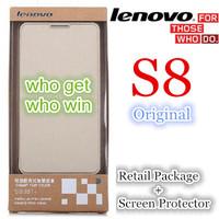 Original Lenovo S8 S898T LTPS Octa Core MTK6592 Phone Flip PU Leather Case Sincere price
