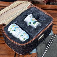 Heat resistant glass Ears black tea ware Tea garden spring travel Portable tea set