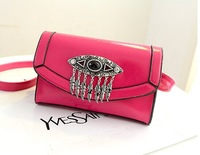 Brand New Relaxation 2014 Fashion Pu Zipper Mini Women Messenger Small Leather Bags Black Vintage Shoulder Bags Hot Sale!