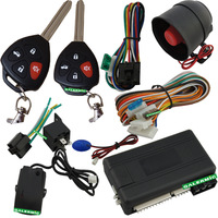remote car door lock engine start of car alarm  with 2 remote trunk release by 433.92Mhz frequency,car finding alarm system