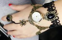 Brand New Fashion Exotic Bohemian Rhinestone Ring Women's Dancer's Party Dress Dance Copper Like Gift Bracelet Wrist Watches