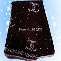 5yds/lot! popular pattern Velvet Fabric velour cloth Satin Textile Jacquard. high quality velvet fabric with bead!   VL060509