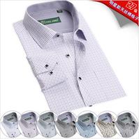 New Arrival~ Free Shipping British Fashion Slim Men's Business Shirts Plaid Shirts 27 Styles 1pc/lot