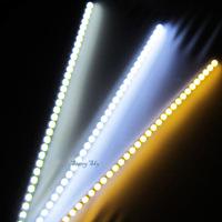 wholesale 100m 100x 1m 72LEDs 5050 SMD LED bar light   Super Bright rigid Hard Strip lamps 12V cool warm white Non-Waterproof