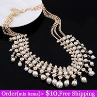 Fashion accessories fashion all-match pearl quality elegant design short necklace