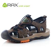 Summer Men Sandals Cow Leahter (Homens Sandalias)Breathable Ultra-light Walking Outdoor Shoes EUR:39-44 Brown/Dark Brown