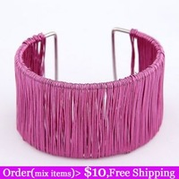 Fashion fashion personality metal elegant spirally-wound ultra wide bangles many kinds of color