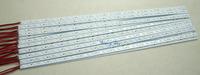 100x 1m 7020 SMD LED bar light  Super Bright rigid Hard Strip lamps 100cm 72LEDs  12V  white Non-Waterproof