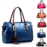 Guaranteed 100% New 2014 fashion PU Leather Summer shoulder bags European women handbags  Free shipping TY003