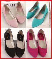 free shipping 2014 new fashion cheap women genuine leather shoes Flat heel casual comfortable women flats Big Plus size 40 41 42