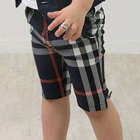 summer children's casual capris 7 pants baby boys fashion lattice pants denim trousers hemmability fashion boy kids cool pants