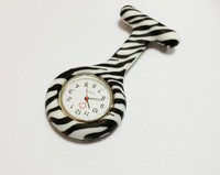 300pcs Nurse Medical Watch Brooch Clip Pocket Watches Best Gift  Zebra Patterns Doctor Watch Fast Shipping