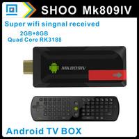 MK809 IV With External Wifi Antenna Quad core RK3188 Mini PC TV Dongle Android 4.2.2 2GB RAM MK809 III + RC11 Russian keyboard