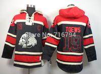 Free Shipping NHL Hoodie 2014 New Chicago Blackhawks 19 Jonathan Toews The skeleton head Hockey Hooded Jersey Stitched Logo