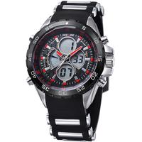 Calendar LED Watch Men's Wristwatch Analog-Digital WEIDE Sports Watch Back Light  led display Quartz watches promotions