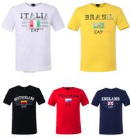 E8311 AR EA Free Shipping 2014 On Sale Novelty Men's T Shirt Casual O-Neck Short Sleeve Cotton Tees Sports Boys' Tops Size:M-XXL