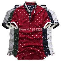 Men POLO Shirt Slim 5 Colors Skull Pattern Unique Neckline Turn-down Collar Short Sleeve Cotton Shirt Men summer Clothing YJ922