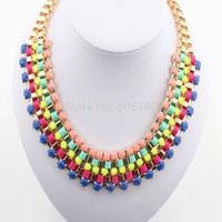 HX1009 High Fashion Jewellery 2014 newly arrival fashion charm jewelry lady's luxury acrylic beads handmade short necklace
