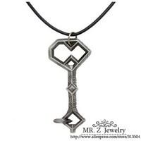 Free Shipping Hobbit Key Pendant Rope Necklace Antique Jewelry 2014 10pcs/lot Wholesale